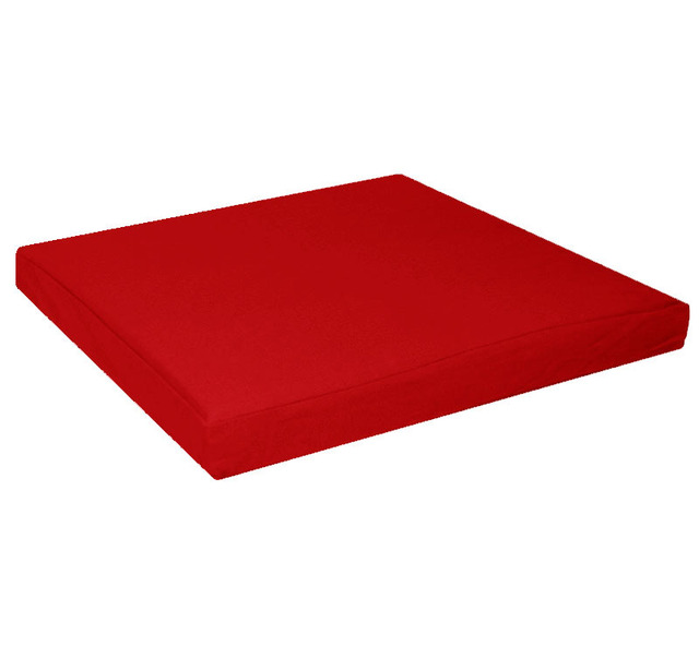 aa129t Hot Red 100 Cotton Canvas Square 3D Box Sofa Seat Cushion