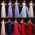 long chiffon bridesmaid lace up back royal blue a-line bridemaids dresses fuschia hot pink one shoulder dress burgundy B2000