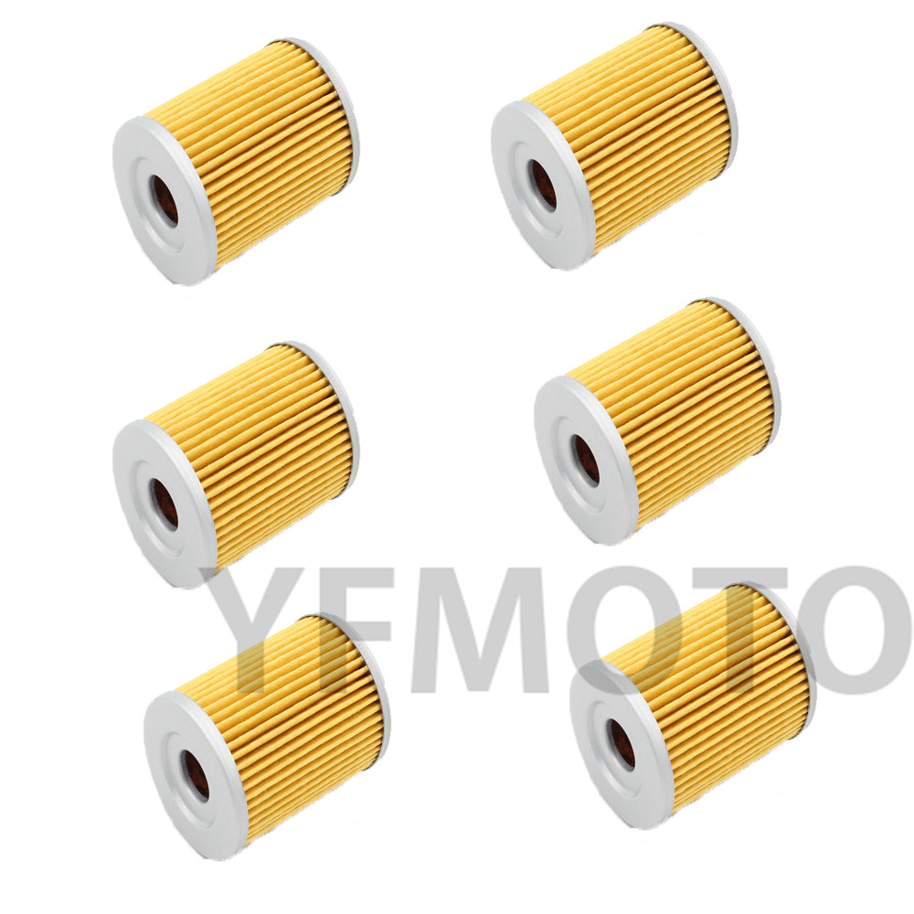 6 pcs motorcycle oil filter for suzuki atv lt f160 x y k1