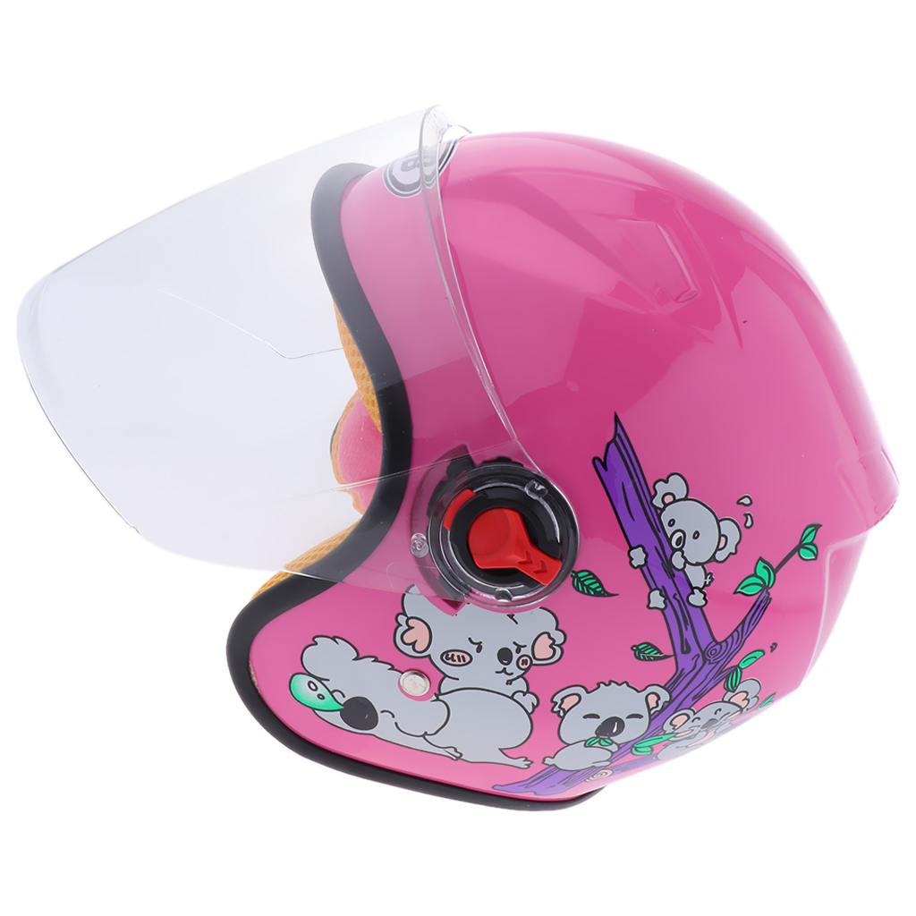 1 stück Kinder Kinder Jethelm Motorrad Helm Nette Cartoon Bike Helm 25x17x17mm B -rosa für skateboard radfahren