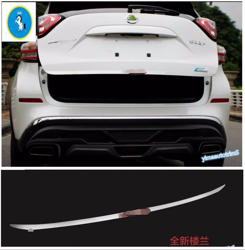For Nissan Murano 2015-2018 Chrome Rear Trunk Lid Tail Gate Door Cover Trim