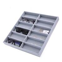 Mordoa Glasses Storage 12 Grid Sunglasses Display Sunglass Organizer Eyewear Storage Jewelry Display Box Rack Shelf