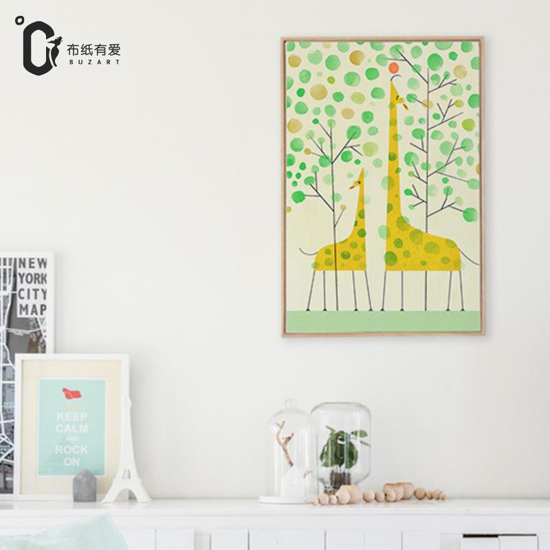 jirafa pintura decoracin saln sof pared de fondo pinturas murales sin marcochina mainland