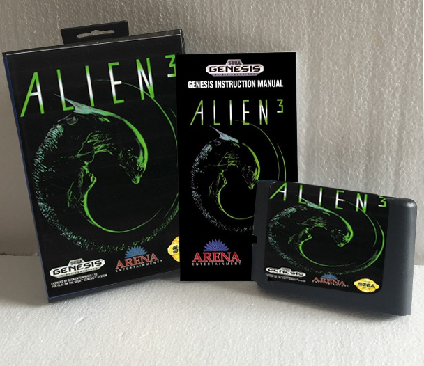 Alien 3 With Box And Manual 16bit MD Game Card For Sega Mega Drive For Genesis
