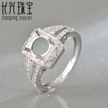 7mm Round shape 14K white gold Natural 0.41ct Diamond Engagement Ring Jewelry Semi Mount Setting Ring
