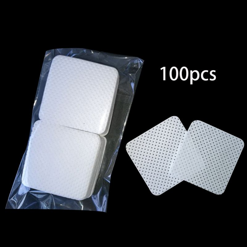 100Pcs/Bag Disposable Eyelash Extension Glue Removing Cotton Pad Bottle Mouth Wipes Patches Makeup Cosmetic Cleaning Tool