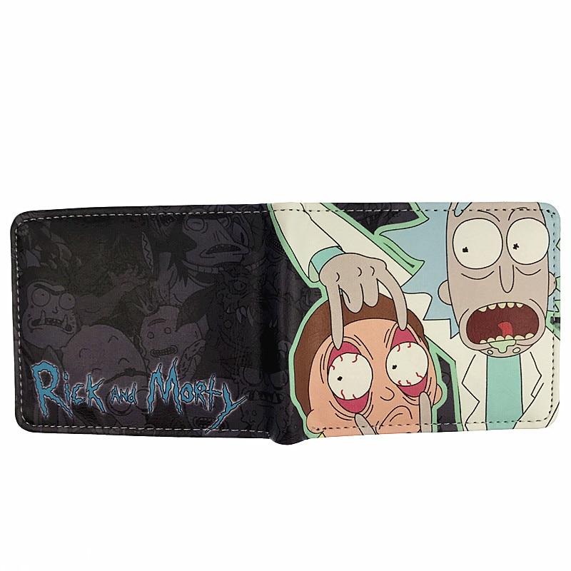 MeanCat Wholesale 10st / lot Anime Cartoon Rick och Morty Folded - Plånböcker - Foto 3