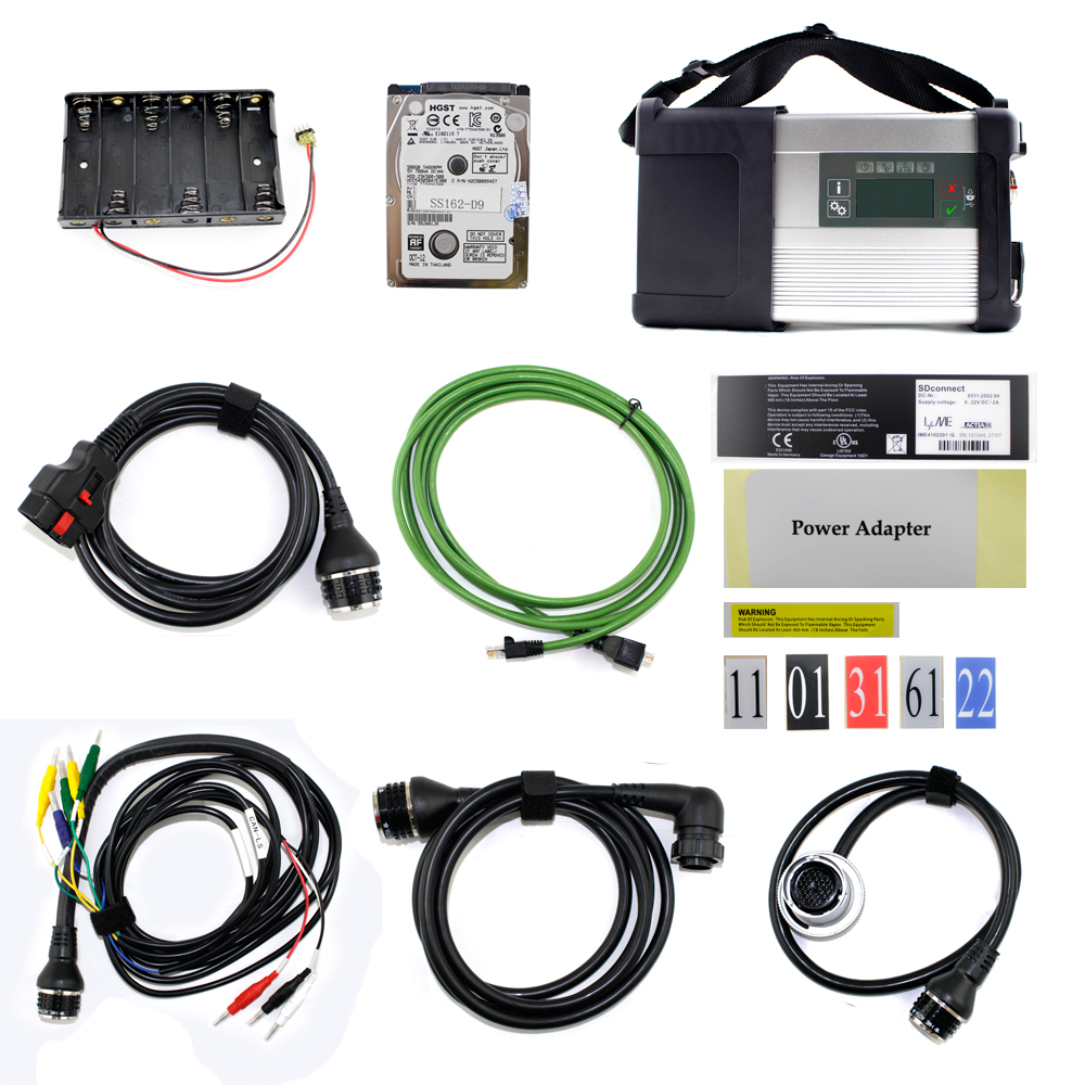 Newest MB SD Connect Compact C5 Star Diagnosis with WIFI for Cars and Trucks Multi-Langauge diagnostic tool 2018.3 HDD 38 pin main cable for mb star c4 c5 diagnosis sd connect for mercedes compact 4 5 super quality