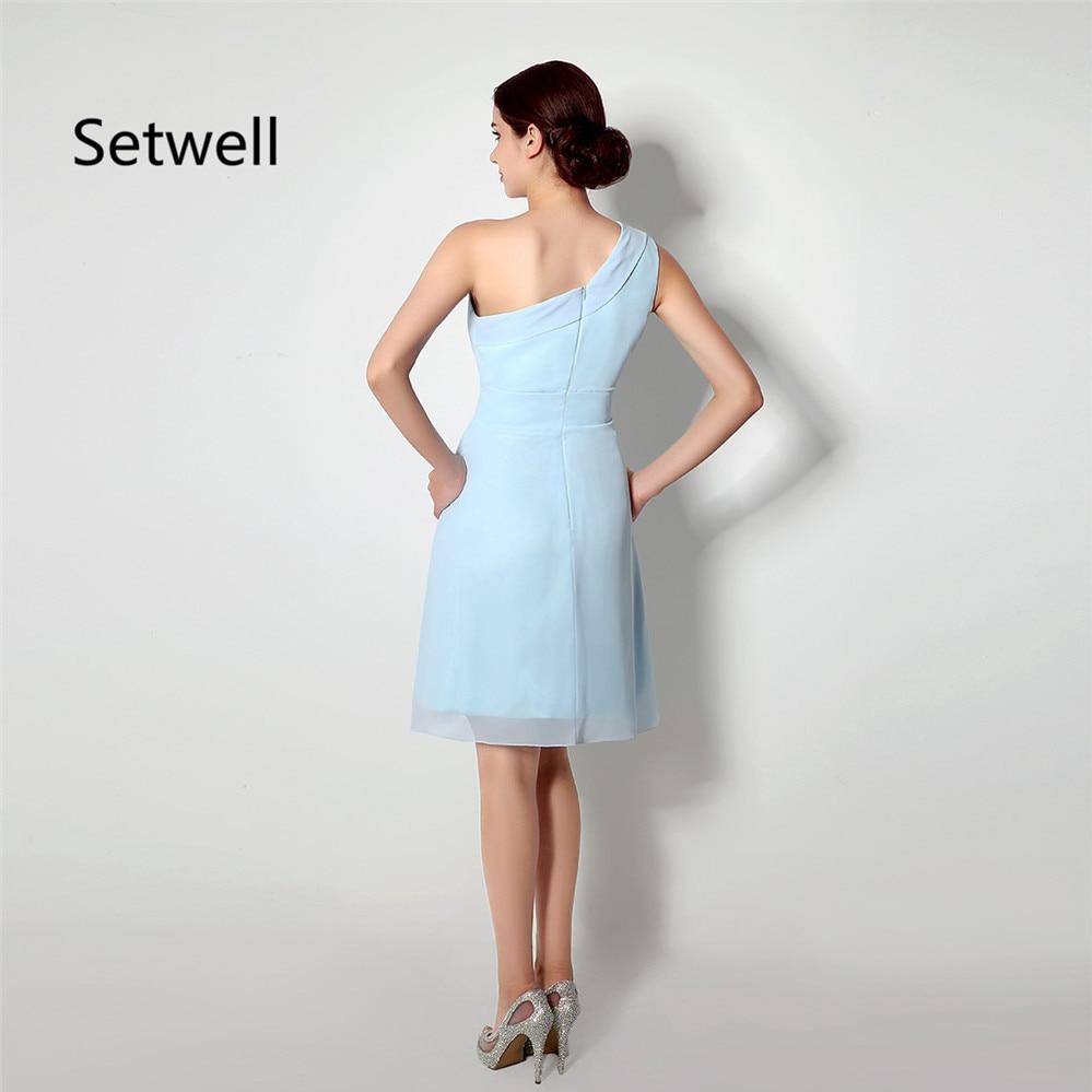 Setwell Einfach Hellblau Brautjungfer Kleid Sommer Chiffon Strand ...