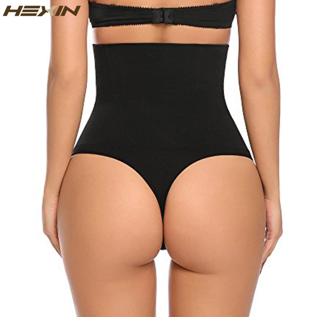 63238f810b166 HEXIN Women Waist Cincher Boy Short Girdle Tummy Slimmer Sexy Thong Panty  Shapewear High Waist Shaper
