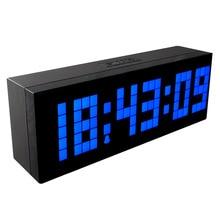 CH KOSDA  Large Number Alarm  Clock Creative LED  Clock Backlight  Table Desk Bedroom Kid's Electronic Desk Clock Home Design