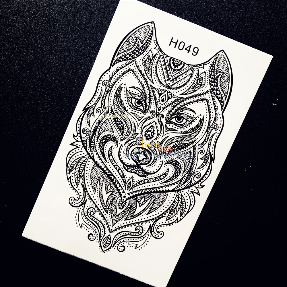 Tribal-Tattoos 1PC-Indian-font-b-Tribal-b-font-Wolf-Temporary-font-b-Tattoo-b-font-Sticker-font