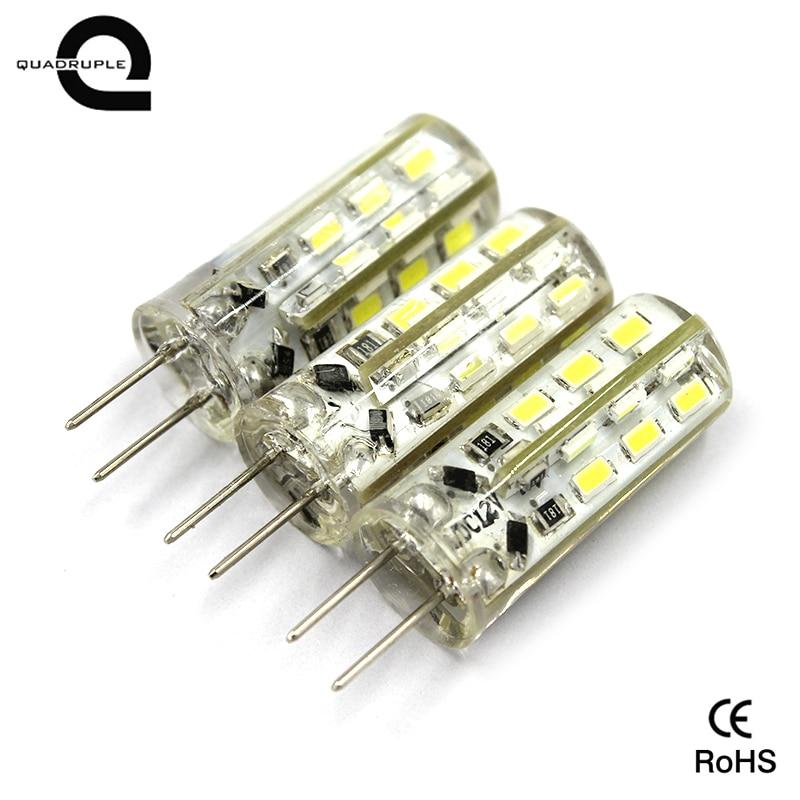 Quadruple New 20PCS G4 LED Bulb Lamp 2W Silicone Lamp High Power DC12v 3014 24 SMD White/Warm White Light