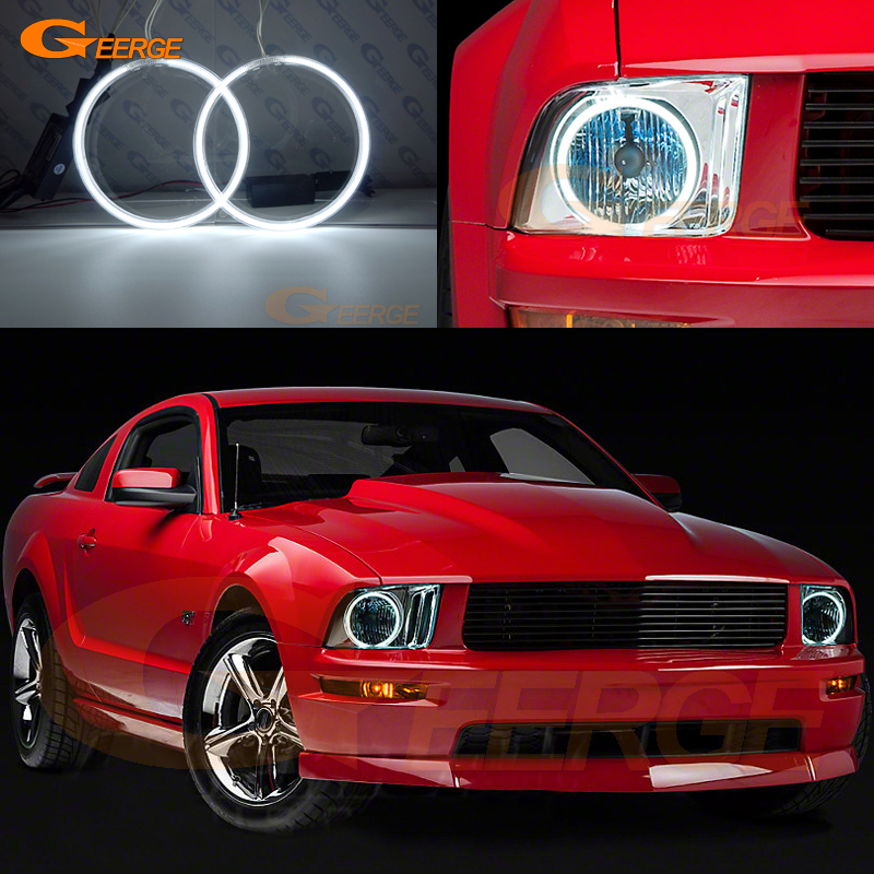 For Ford Mustang 2005 2006 2007 2008 2009 headlight Excellent Ultra bright illumination CCFL Angel Eyes kit Halo Rings free shipping super bright ccfl angel eyes halo rings kit for bmw e83 x3 auto headlight 4 rings 2 waterproof inverters page 7