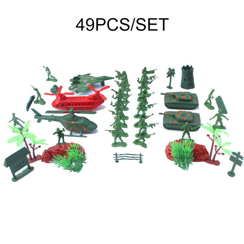 Toys & Hobbies 49pcs/set Kids Military Array Model Toys Army Soldier Model Sandbox Game Men Figures Model Action Figure Toys For Children Boys Factory Direct Selling Price