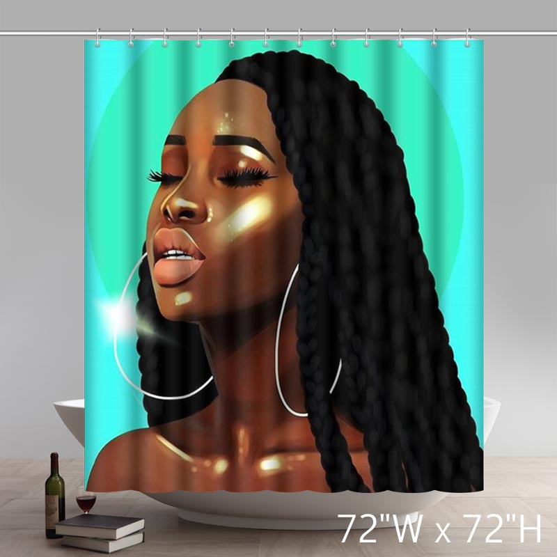 Modern Princesses Afrocentric The Beauty In Art Shower Curtains