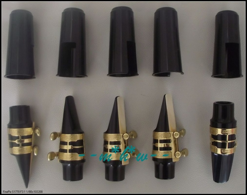 Excellent 5 set Alto Sax mouthpiece with Carving ligature and cap and reeds