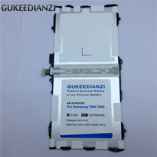 GUKEEDIANZI Tablet Battery EB-BT800FBE  For Samsung Galaxy Tab S 10.5 T800 T801 T805  8100mAh Replacement Batteries
