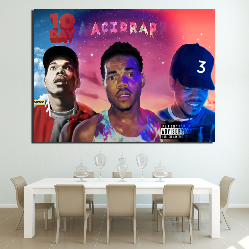 Modern Art HD Printed 1 Piece Chance Music Rap Rapper American Band Wall Portraits for Living Room Home Decoration