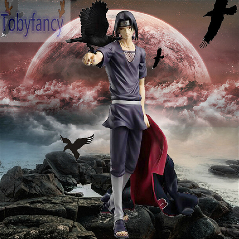Naruto Figure Uchiha Itachi Action Figure 270mm Figura Pvc Naruto Itachi Collection Model Anime Figurine Naruto T цена