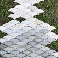 Conception géométrique brique de mur en béton silicone moule ciment carrelage décoration de jardin carrelage moule