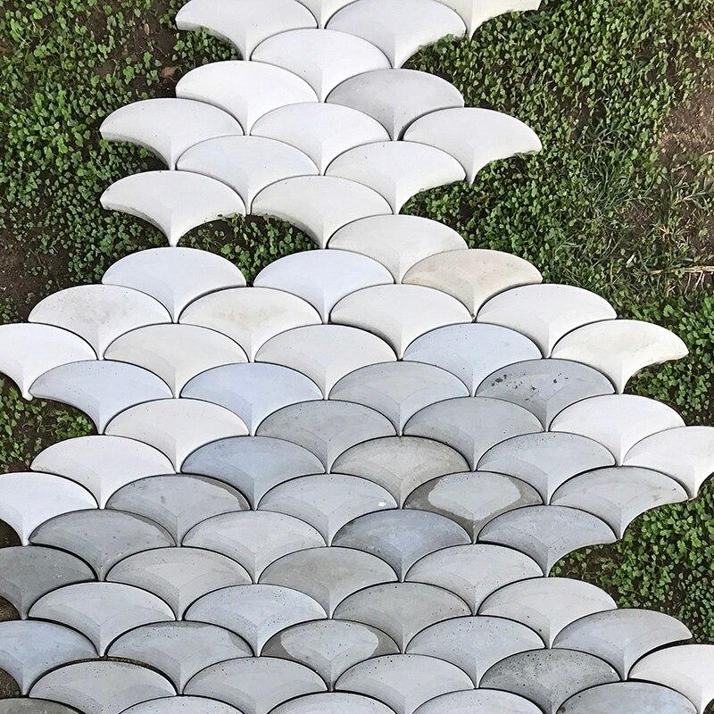 Geometric Design Concrete Wall Brick Silicone Mold Cement Floor Tile Mould Garden Decoration Floor Tile Mould