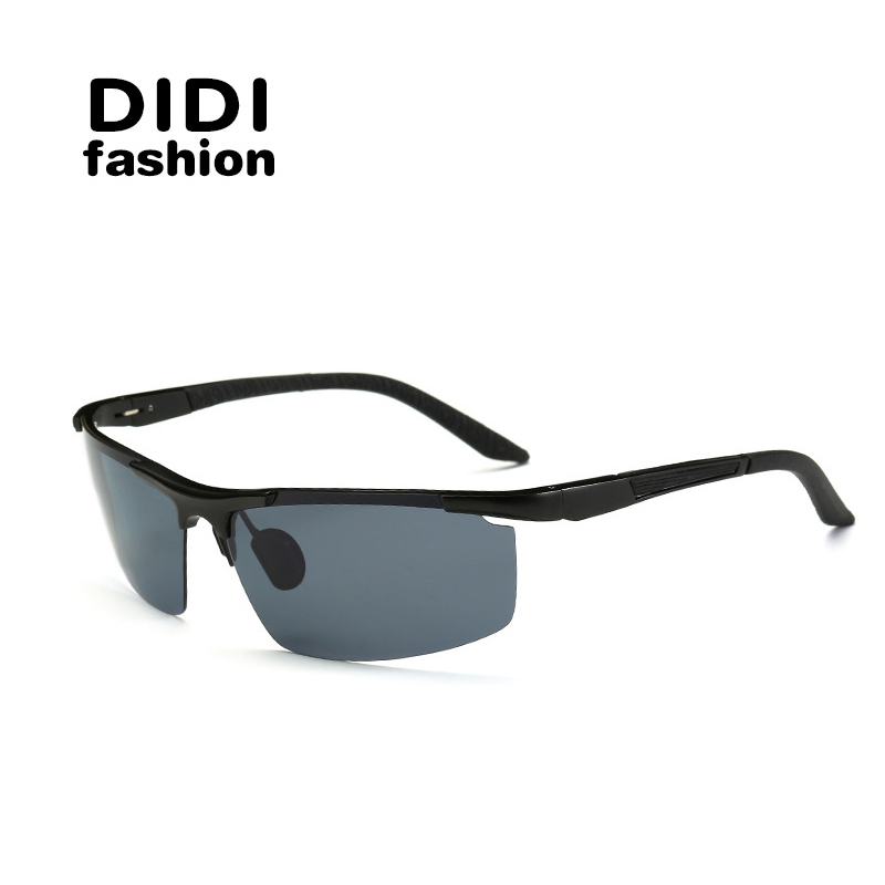 DIDI Men's Aluminum magnesium frame polarized sunglasses driving mirror sun glasses sport Fishing glasses Gafas de Sol W556