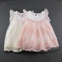 2017 Newest Summer Cute Lace Baby Girls Dress Korean Style Princess Clothes Girls Party Toddler Dresses