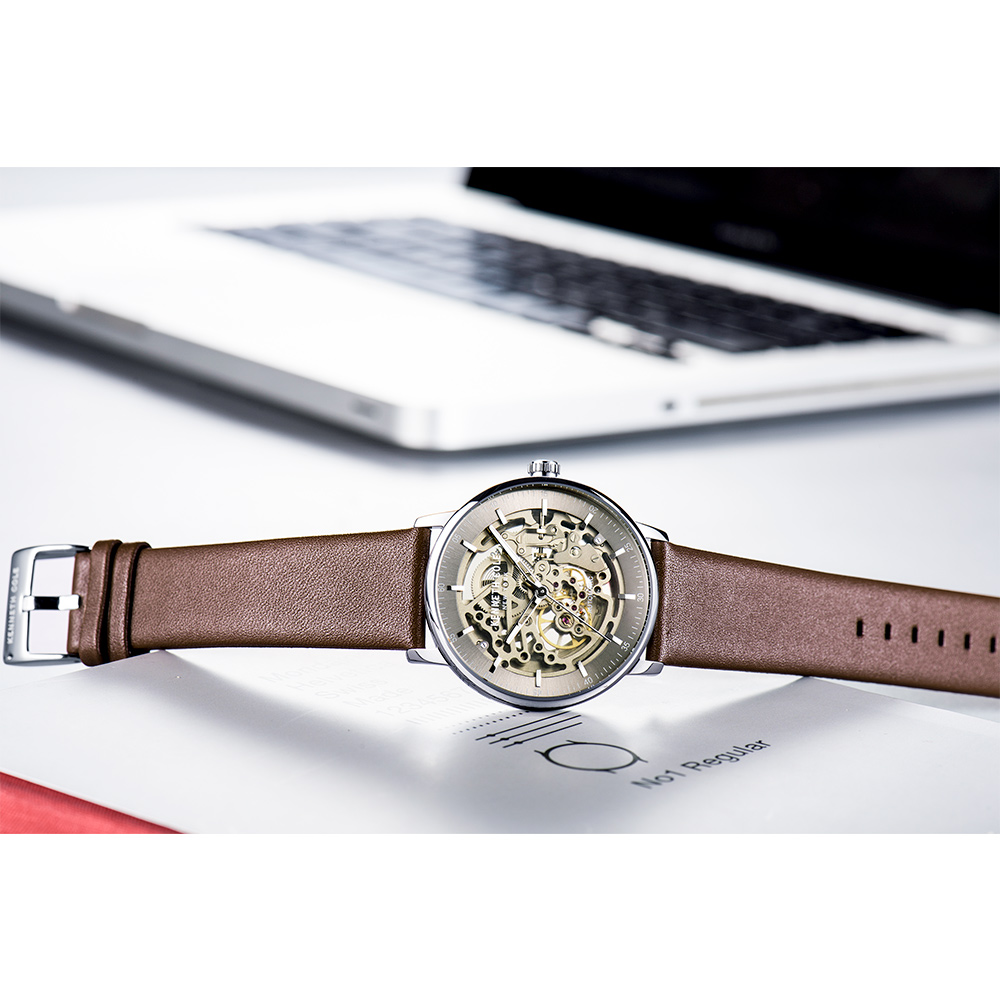 b55b62731 Kenneth Cole Mechanical Mens Watches Brown Gold Automatic Wind Leather  Buckle Waterproof Luxury Brand Male Watches KC15104001 - aliexpress.com -  imall.com