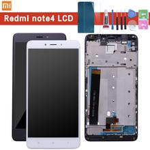 Dla Xiaomi Redmi Note 4 wyświetlacz LCD i ekran dotykowy z ramką 5 5 Cal testowane dla Xiaomi Redmi Note 4 + narzędzia dla MTK Helio X20 tanie tanio Pojemnościowy ekran 1920x1080 3 For Xiaomi Redmi Note 4 5 5 Inch