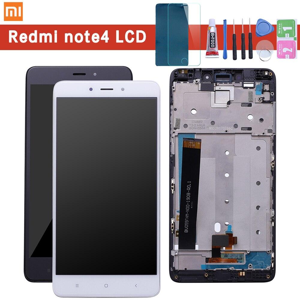 Xiaomi Redmi Note 4 LCD Digitizer Display Touch Screen + Rahmen Montage MTK MediaTek Helio X20 Redmi NOTE4 Reparatur Ersatz teile