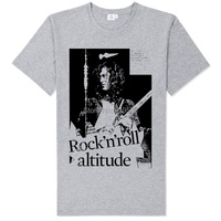 Jimmy Page Guitar Art Old Black White Photo Printing Tee Led Zeppelin