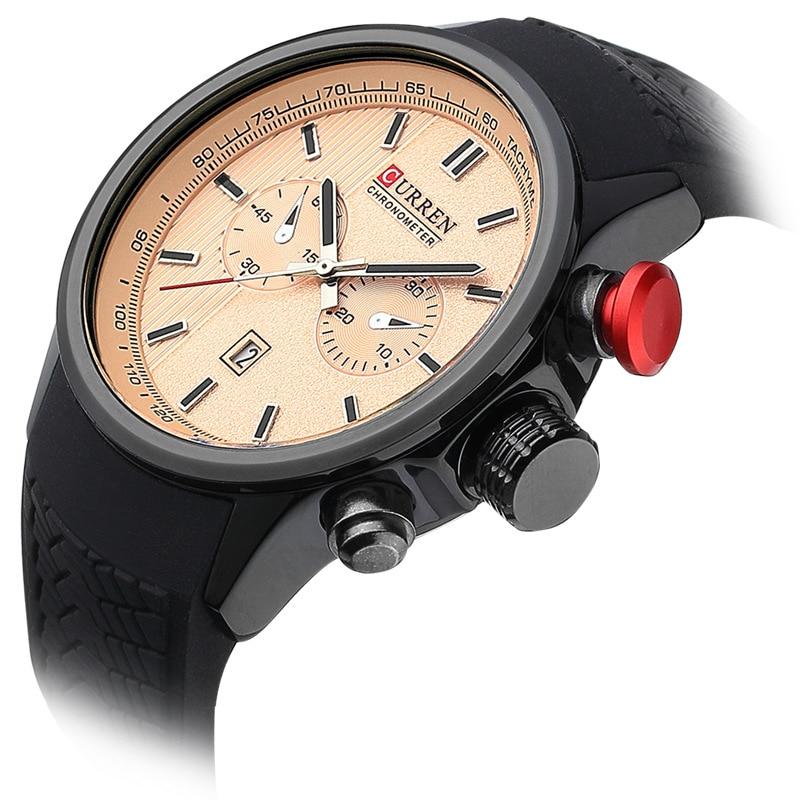Curren Orijinal kişi saatı Lüks marka iş mens kvars qol saatları - Kişi saatları - Fotoqrafiya 6