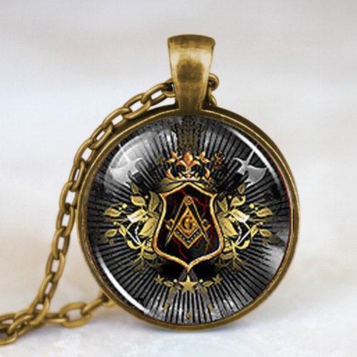 Just Wusqwsc Steampunk Masonic Free Mason Masonic Illuminati Pendant Satanism Necklace Doctor Who Women Men Vintage Chain Gift Toy Street Price Necklaces & Pendants Chain Necklaces