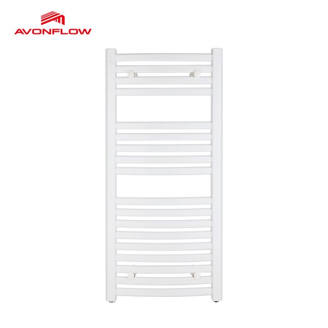 AVONFLOW Drying Thermostat Bathroom Towel Warmer Plumbing Dual Heated Wall  Mounted Towel Rail White Powder Coating