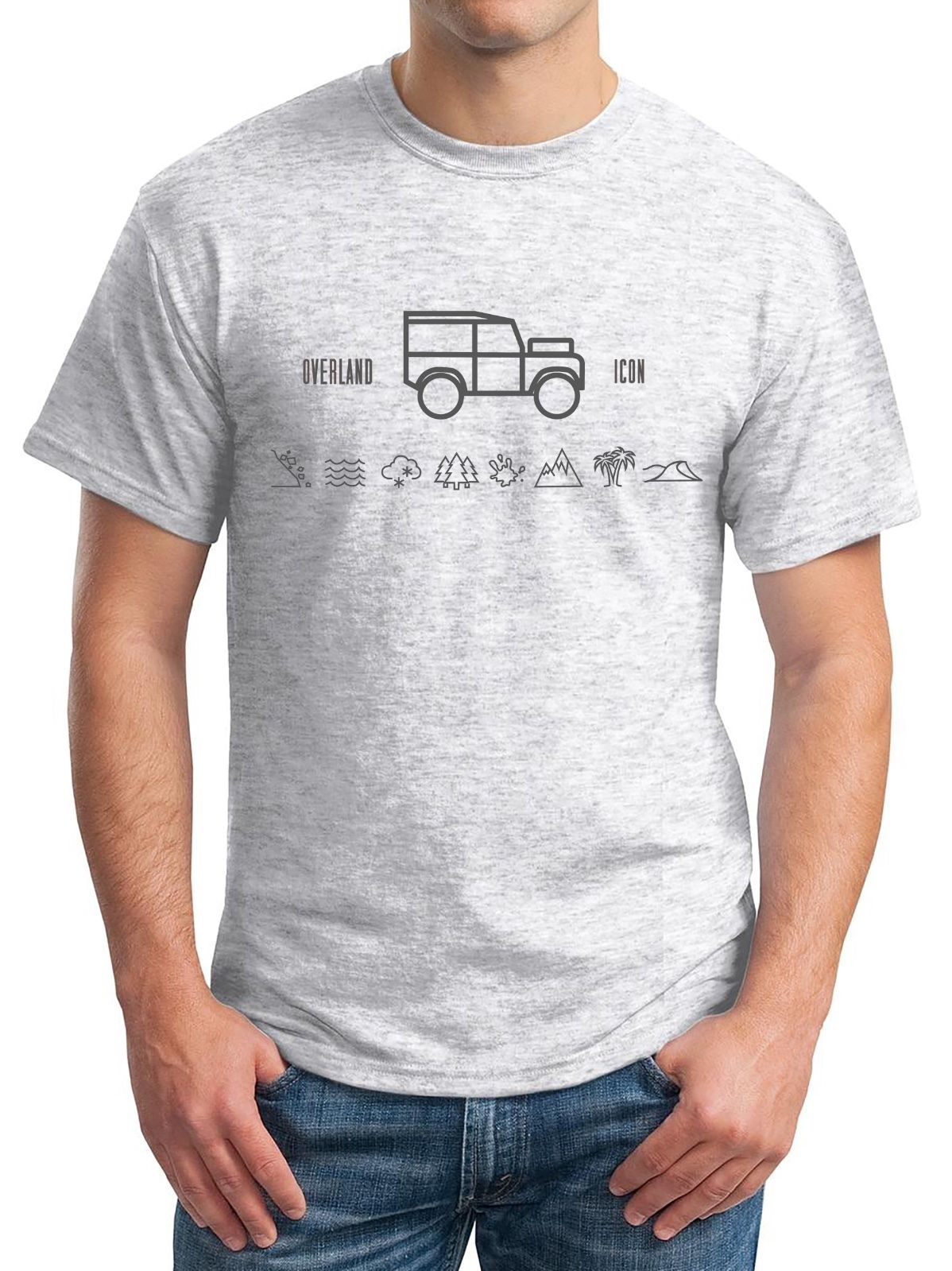 Land Rover Series Defender t-shirt - Overland Icon - Sporter Grey