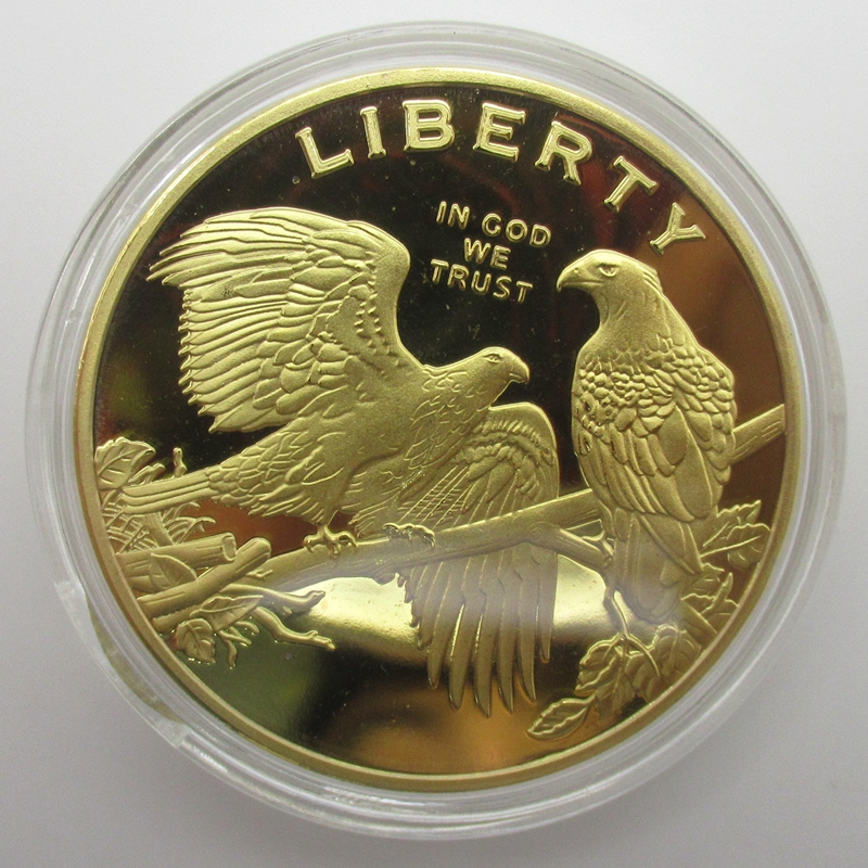 Brass Craft Exquisite American Eagle Gold Coins Colección de monedas Liberty