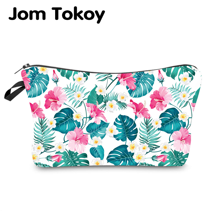 Jom Tokoy Water Resistant Makeup Bag Printing Palm Leaf Cosmetic Bag Organizer Bag Women Multifunction Beauty Bag Hzb970
