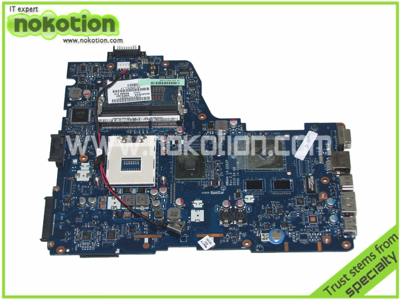 NOKOTION K000104420 LA-6062P Laptop motherboard for TOSHIBA A660 NWQAA REV 2.0 intel HM55 nvidia graphics Mainboard k000055760 laptop motherboard for toshiba satellite a200 a205 iskaa la 3481p rev 2a intel gl960 ddr2 without graphcis slot