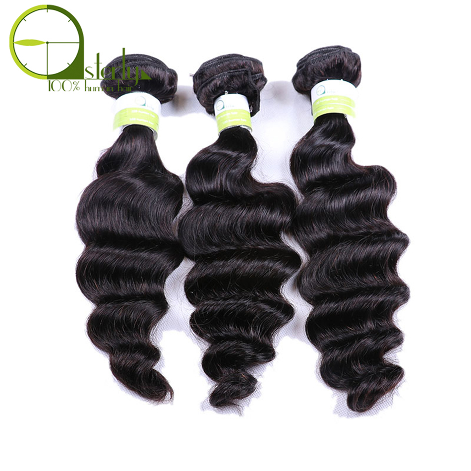 Good Ali Pearl Loose Deep Wave Bundles Brazilian Hair Weave 1 Bundle 100% Human Hair 3 And 4 Bundles 8-26 Inches Remy Hair Extension Human Hair Weaves