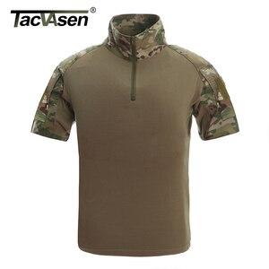 Image 5 - TACVASEN Mens הסוואה טקטי T חולצות קיץ קצר שרוול Airsoft צבא Combat חולצות ביצועים חולצות צבאי בגדים