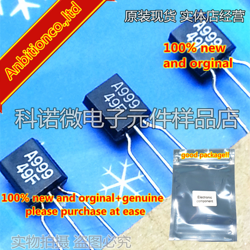 10pcs 100% New And Orginal 2SA999 A999 TO-92 In Stock