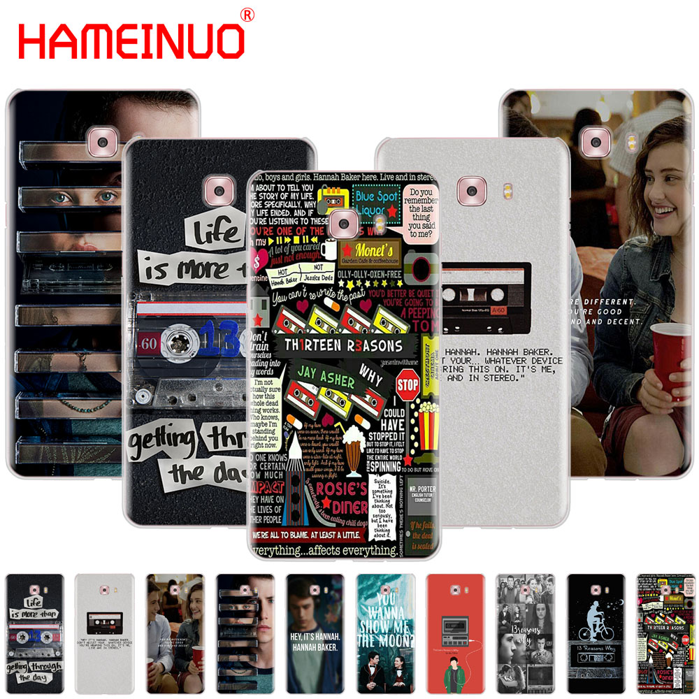 HAMEINUO Thirteen 13 Reasons Why Quotes cover phone case for Samsung Galaxy C5 C7 C8 C9 C10 J2 PRO 2018