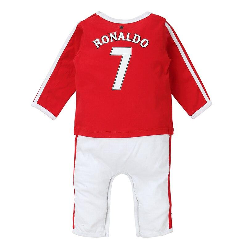 recém-nascido roupas do bebê futebol esporte macacão 0-12 m frete grátis
