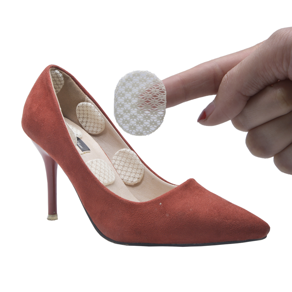 6pcs insoles Silicone Back Heel Liner Gel Cushion Pads soft Insole High Heel Dance Shoes Small round massager stickers Z66602