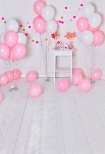 Laeacco Baby Birthday Party Pink Balloons Windmill Photography Backgrounds Customized Photographic Backdrops For Photo Studio цена