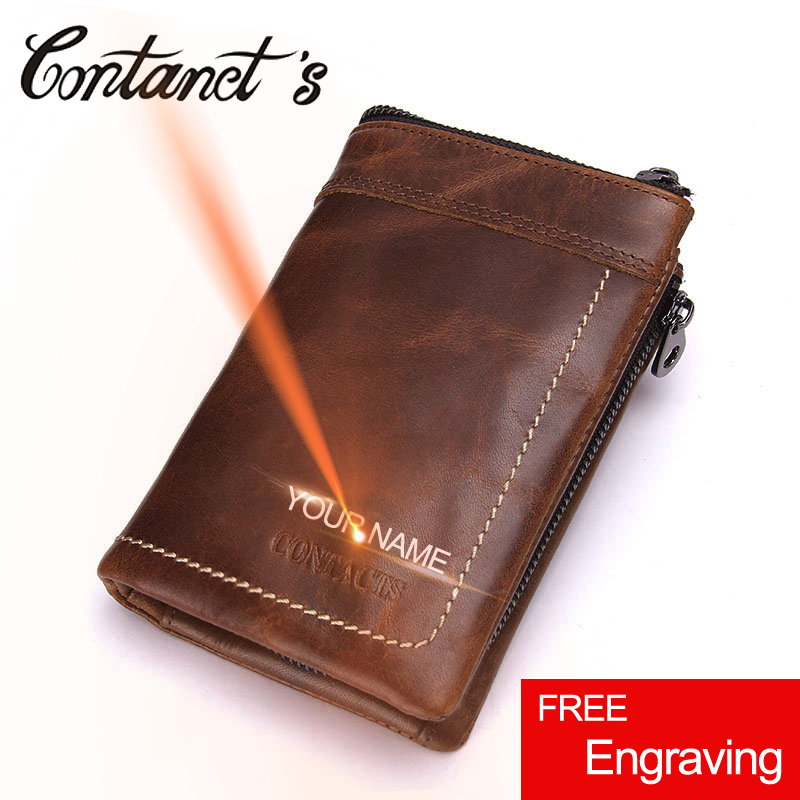 Brand Men's Trifold Wallet Genuine Leather Cowhide Male Coin Purse Removed Short Zipper Money Bag For Dollar Price Photo Holder men wallet male cowhide genuine leather purse money clutch card holder coin short crazy horse photo fashion 2017 male wallets