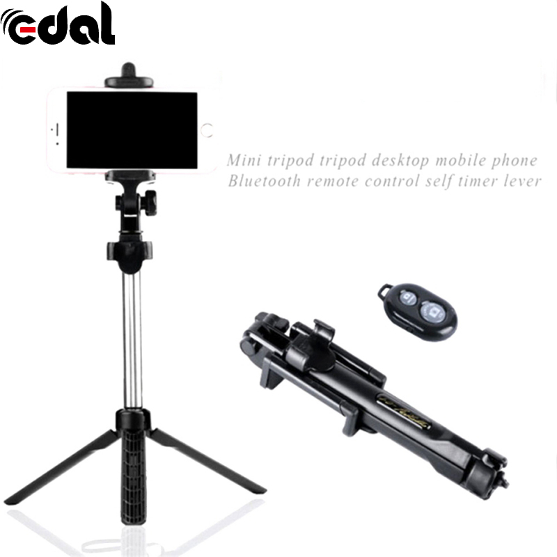 EDAL Retractable Smartphone Self-portrait Artifact Selfie Stick With Bluetooth Shutter Remote Control For Smartphone