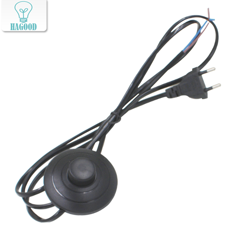 line Cable 1.8m On Off Power Cord For LED Lamp with 317 Button switch EU/US Plug Light Switching White or Black Wire Extension 10x on line on off switch lamp light switch button mid way rocker switch mains power switch 2a 250v for 2 3 core cable hy678 10