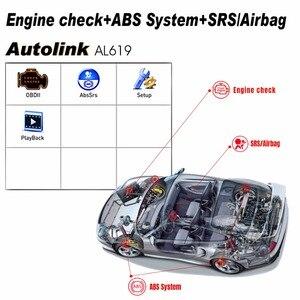 Image 5 - Autel الرابط الآلي AL619 OBD2 الماسح الضوئي سيارة التشخيص أداة المحرك ، ABS ، SRS السيارات سيارة قانون القارئ OBD 2 السيارات تشخيص أداة